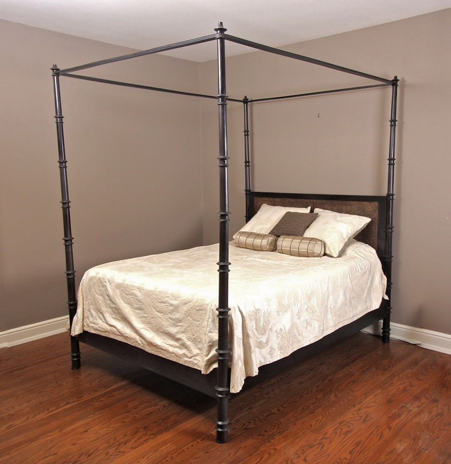 queen size canopy bed ebth