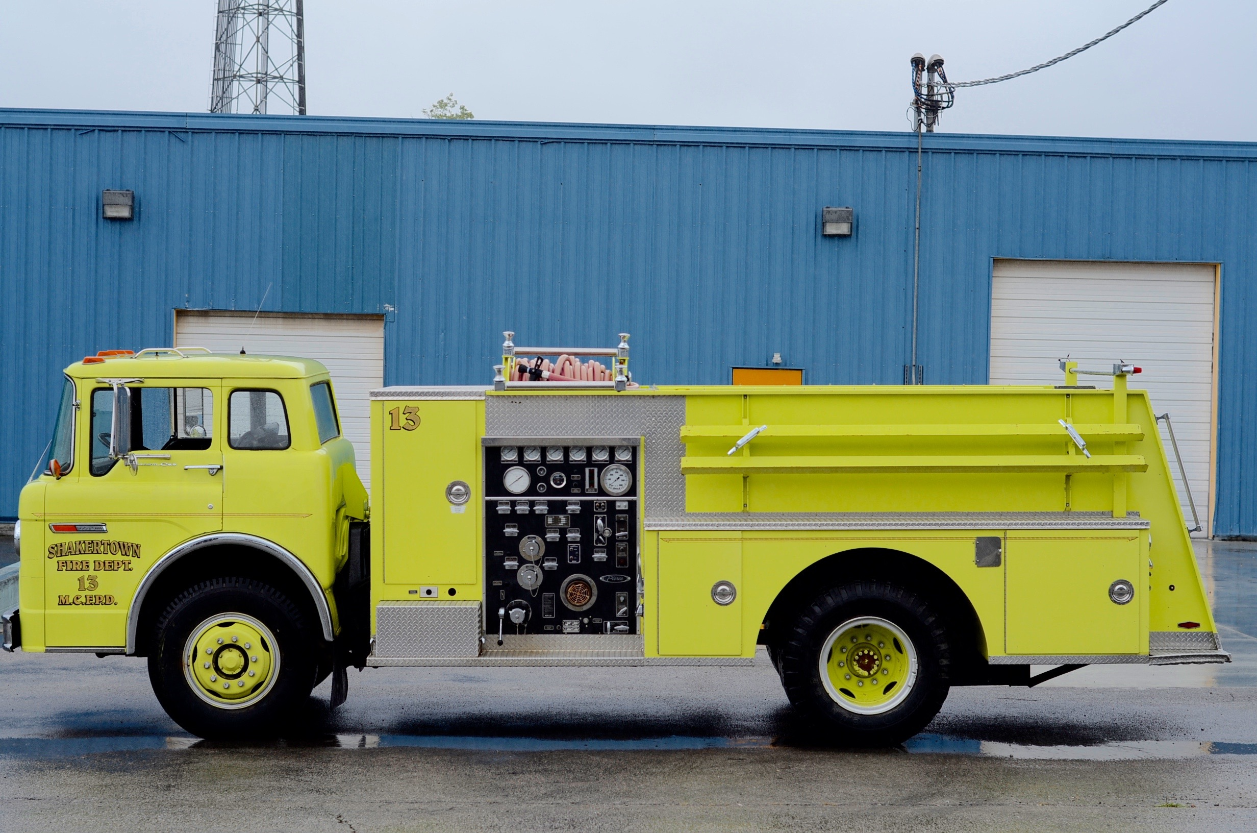 1985 Ford Chartreuse Fire Truck