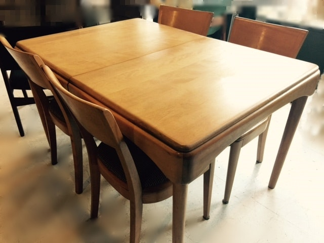Exceptionnel Heywood Wakefield Dining Table And Four Chairs ...