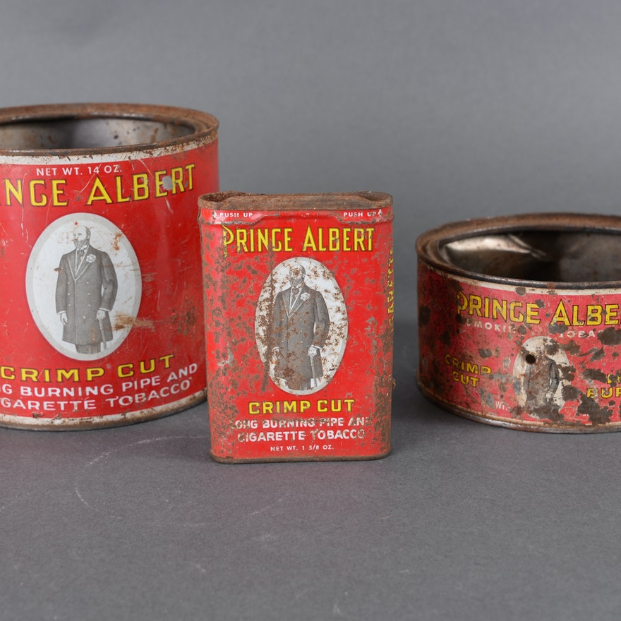 Vintage Prince Albert Tobacco Tins