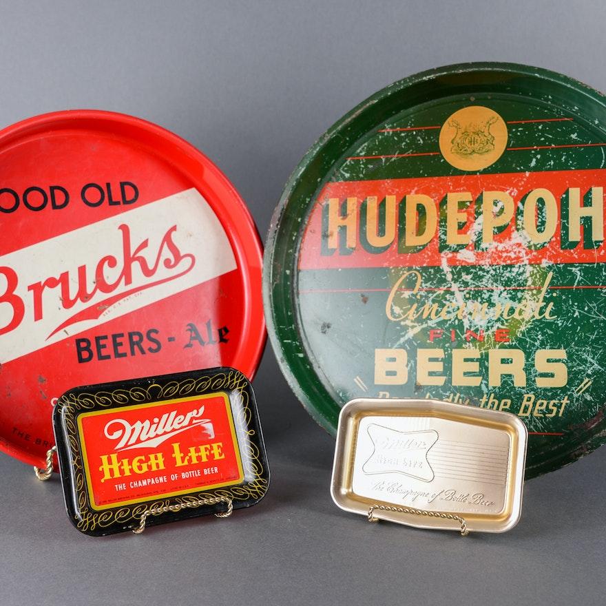 Vintage Metal  Beer Trays