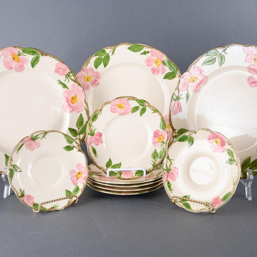 """Franciscan """"Desert Rose"""" Plates"""