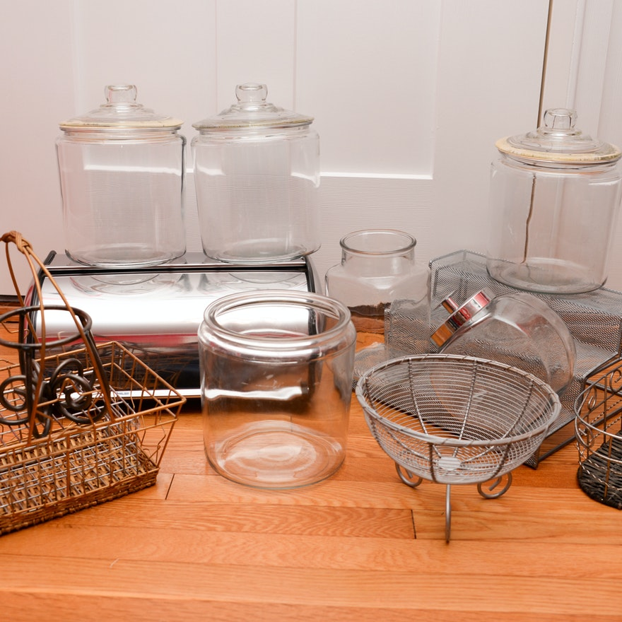 Glass and Metal Storage Items