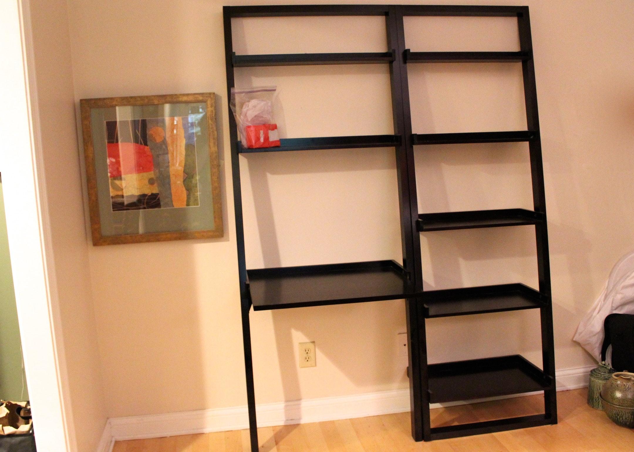 crate u0026 barrel sloane leaning desk and bookshelf