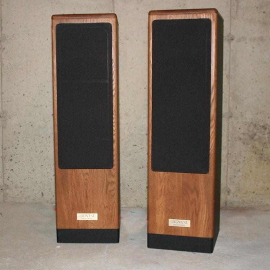 vintage advent heritage floor speakers ebth. Black Bedroom Furniture Sets. Home Design Ideas
