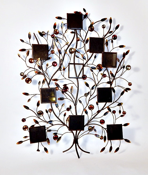Family Tree Picture Frame Wall Hanging decorative metal wall hanging family tree photo frame : ebth