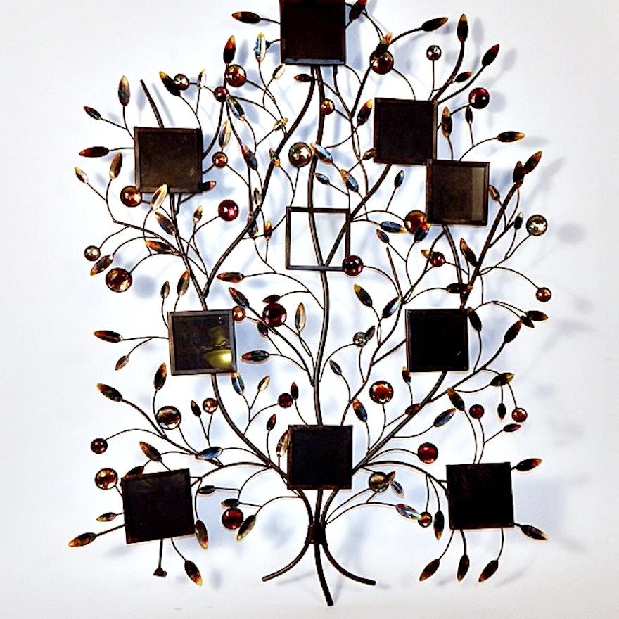 Decorative Metal Wall Hanging Family Tree Photo Frame : EBTH