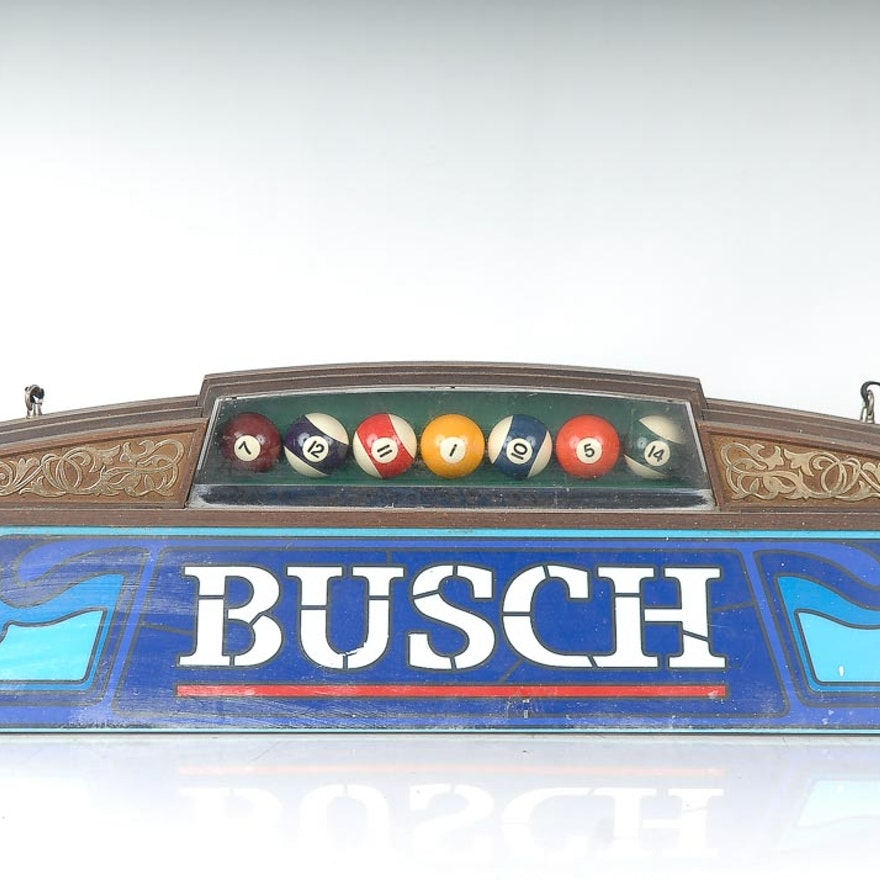 Busch Beer Pool Table Light : EBTH