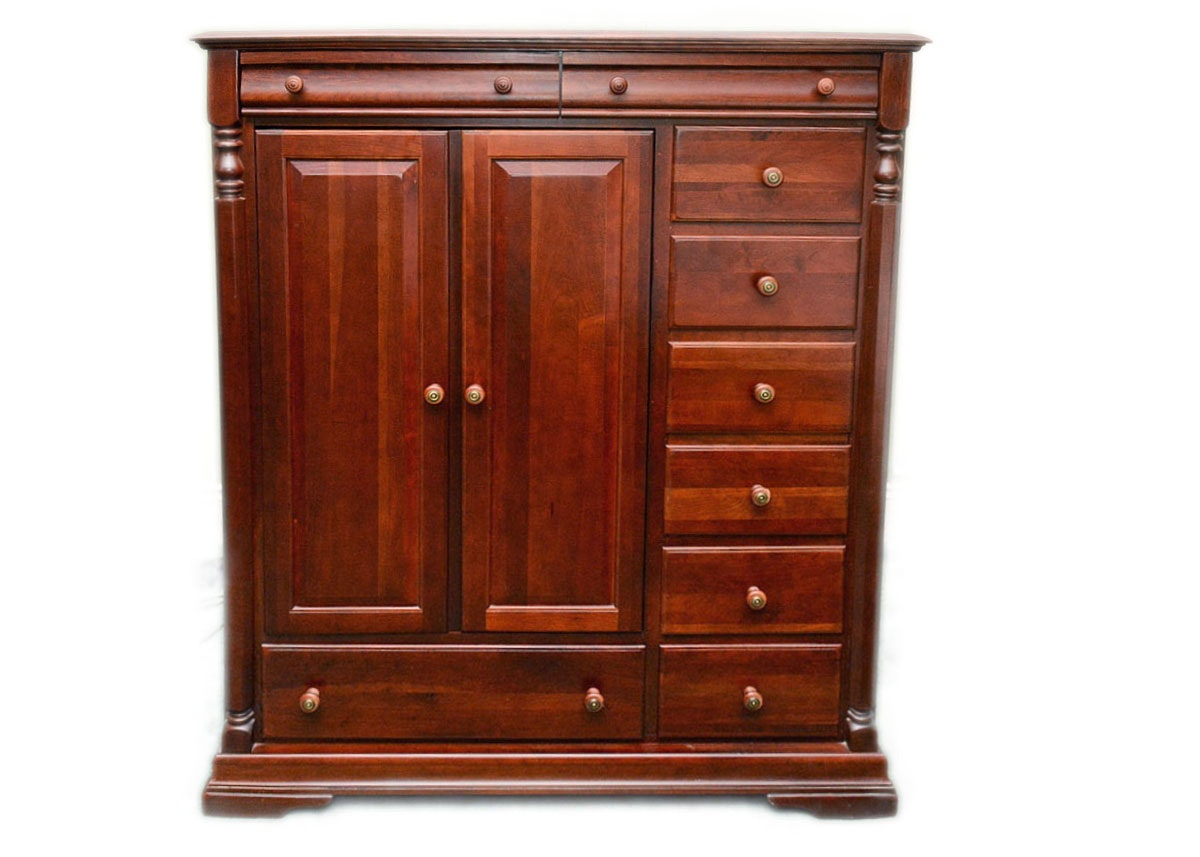 Delicieux Dark Cherry Finish Solid Wood Armoire By Keller Manufacturing ...