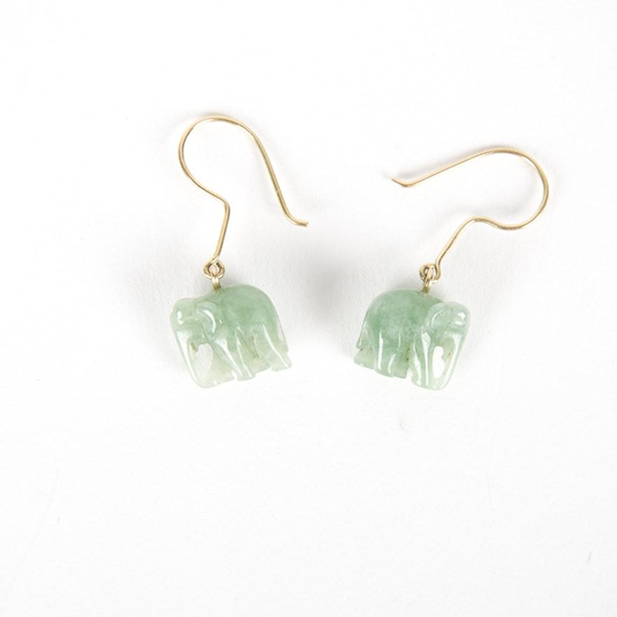 Jade Elephant Earrings 1x1
