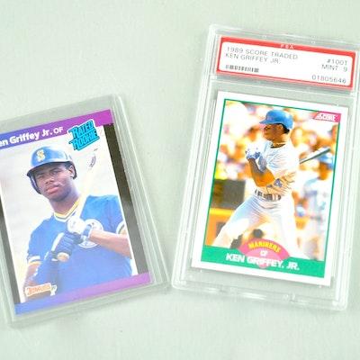 f2531d93cc Pair of Ken Griffey Jr. Baseball 1989 Rookie Cards
