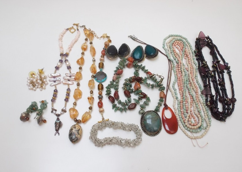 assortment of artisan beaded jewelry ebth