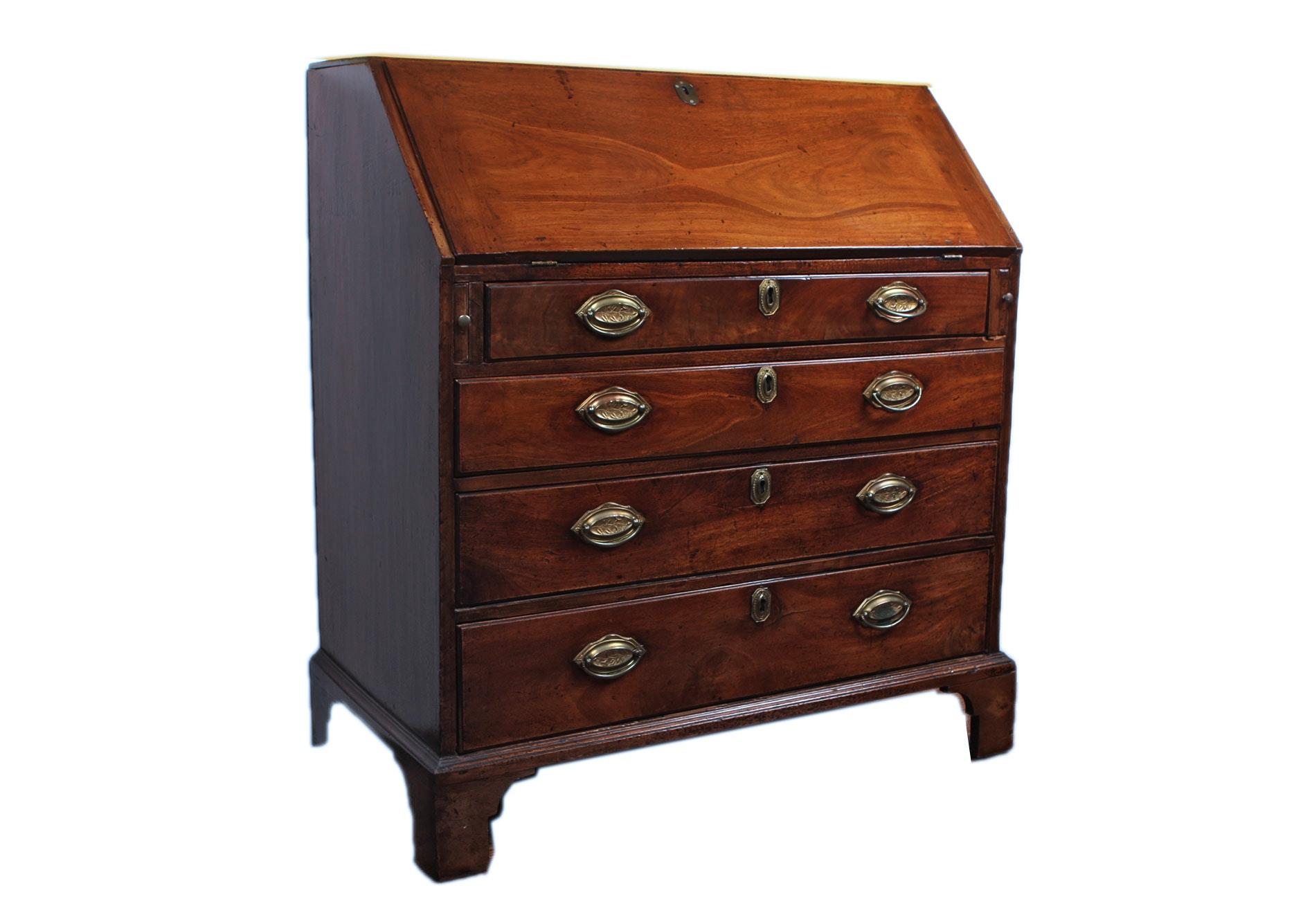 18th Century Mahogany Slant Front Desk Ebth
