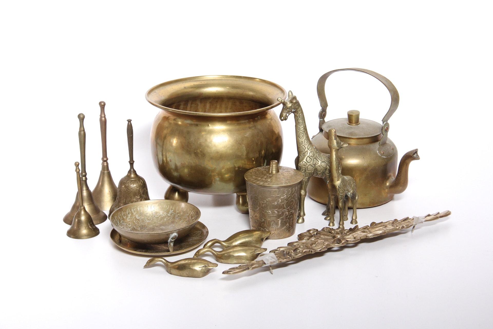 Variety Of Brass Items Ebth