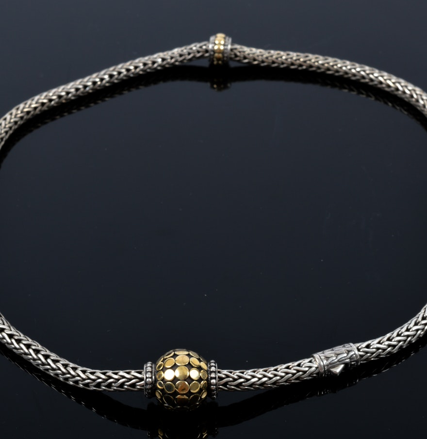 18k white gold braided necklace ebth for Best place to sell gold jewelry in chicago