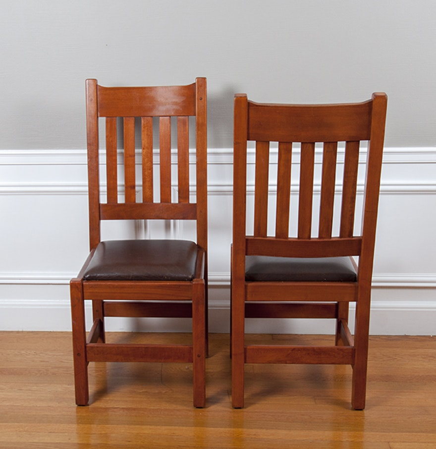 Restoration hardware arts and crafts style chairs ebth for Arts and crafts style hardware