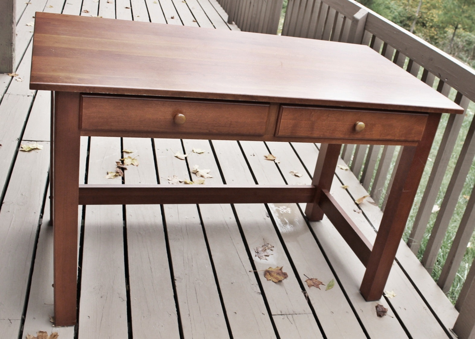 Cherry Shaker Style Writing Desk Ebth