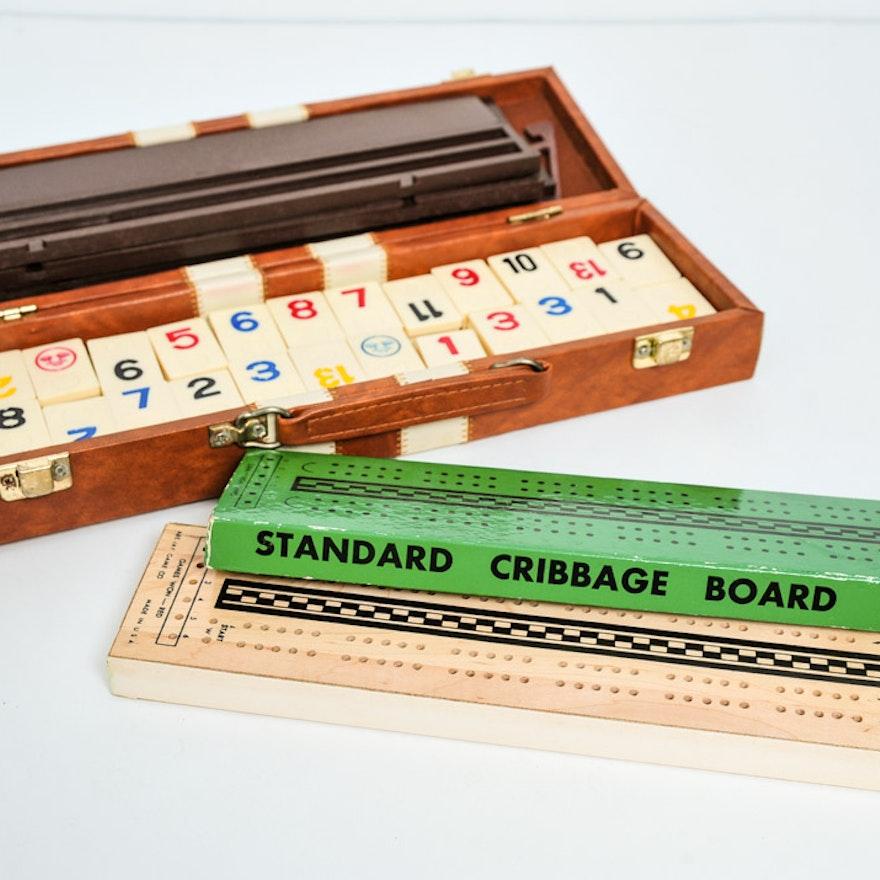 Vintage Rummikub Cribbage Game Ebth