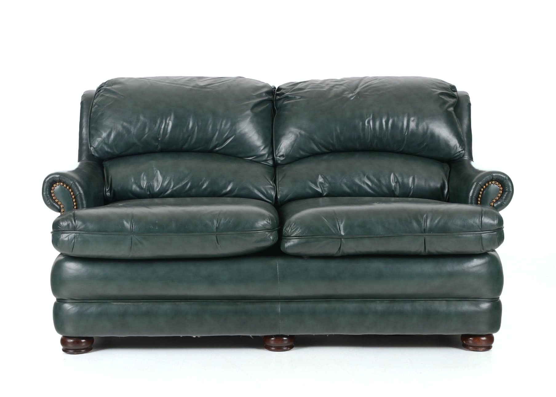 Green Leather Sofa By Bradington Young ...