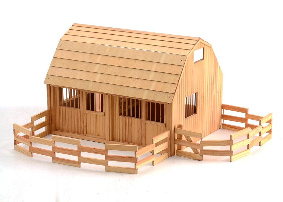 Breyer Pine Toy Horse Barn : EBTH