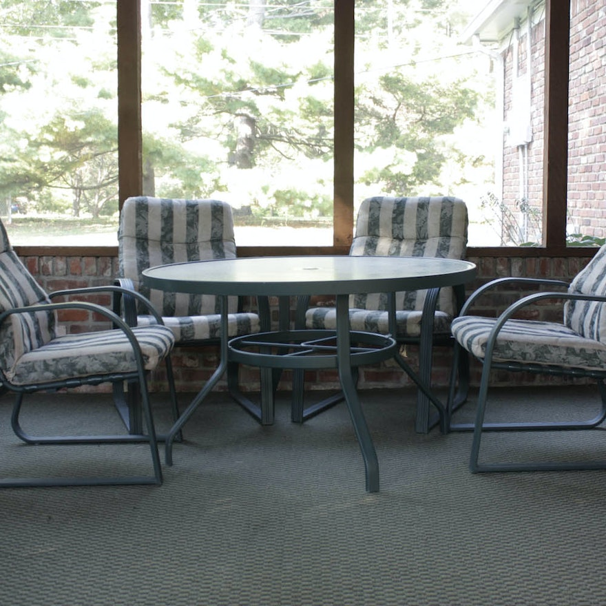 Carter Grandle Patio Table And Chairs Ebth
