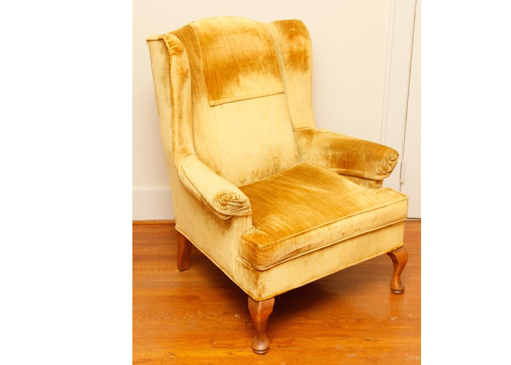 Norwalk Gold Wingback Chair ...
