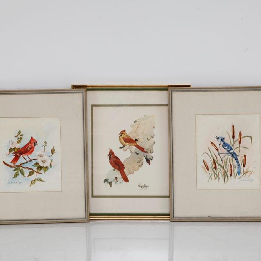 Pair of Original Watercolors