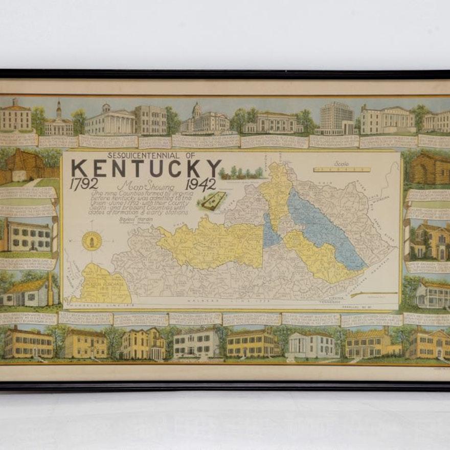 Sesquicentennial Map of Kentucky