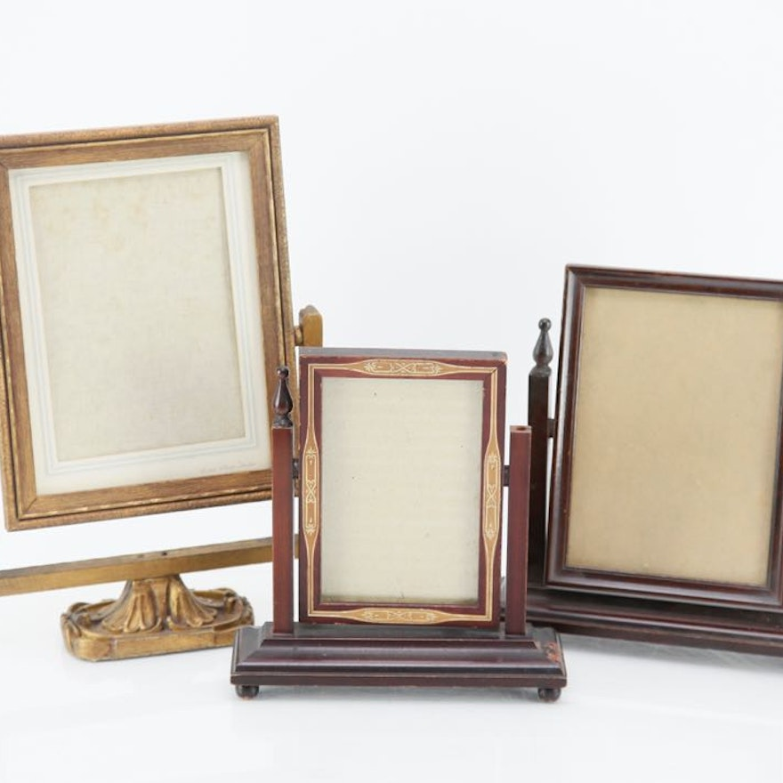 Vintage Wooden Frames on Stands : EBTH