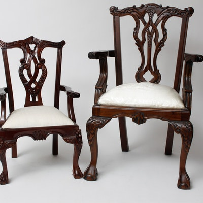 Chippendale Style Child and Doll Dining Room Chair Set - Vintage Chairs, Antique Chairs And Retro Chairs Auction In