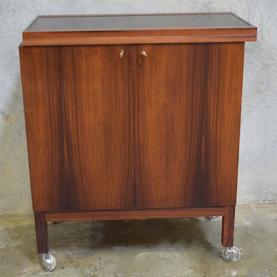 Rosewood Bar Cabinet - Online Furniture Auctions Vintage Furniture Auction Antique