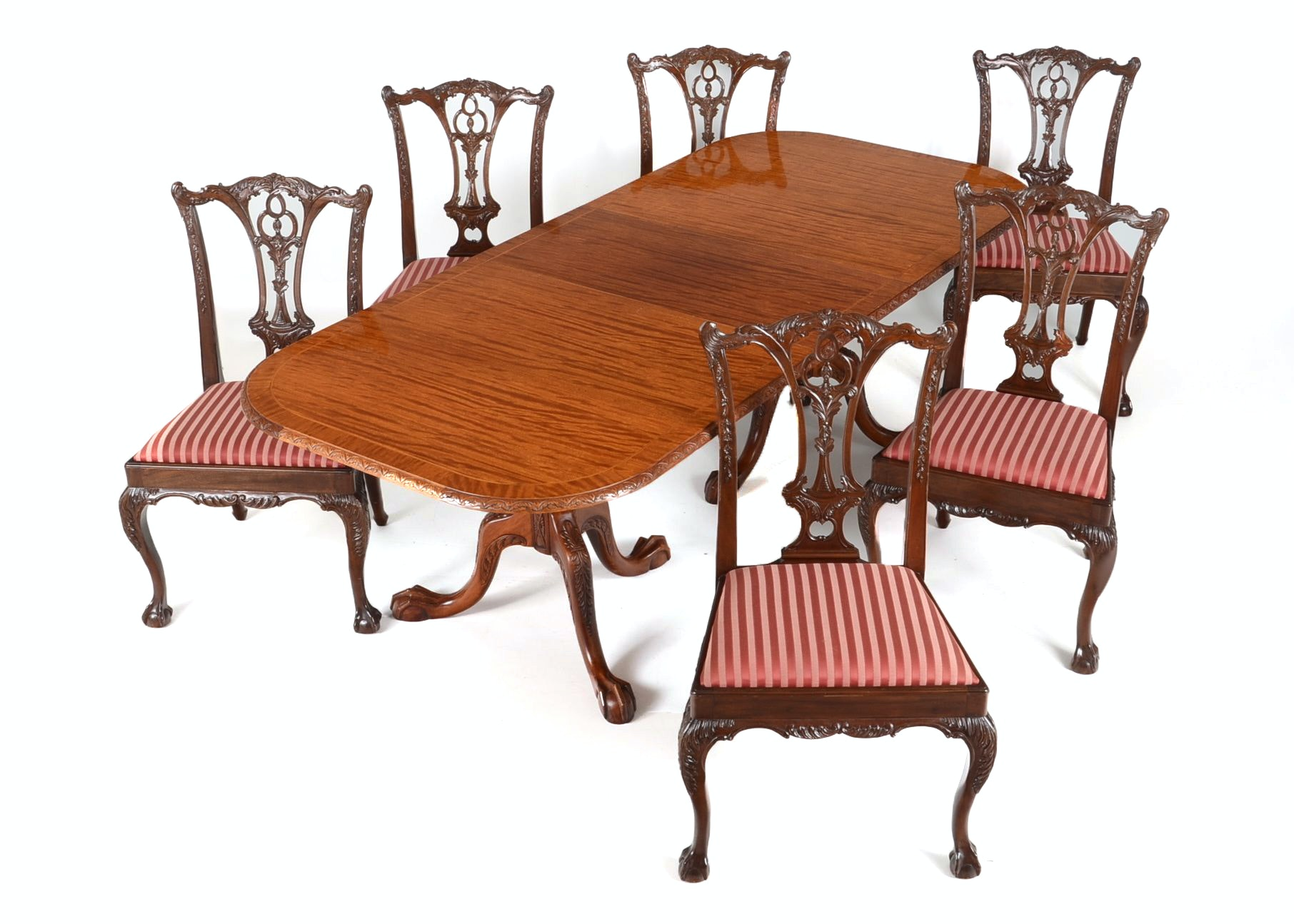 Carved Mahogany Dining Table Six Chippendale Style Side  : DSC2218jpgixlibrb 11 from www.ebth.com size 880 x 880 jpeg 143kB