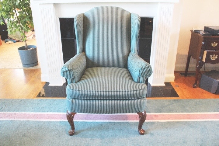 Gentil Clayton Marcus Upholstered Wing Back Chair