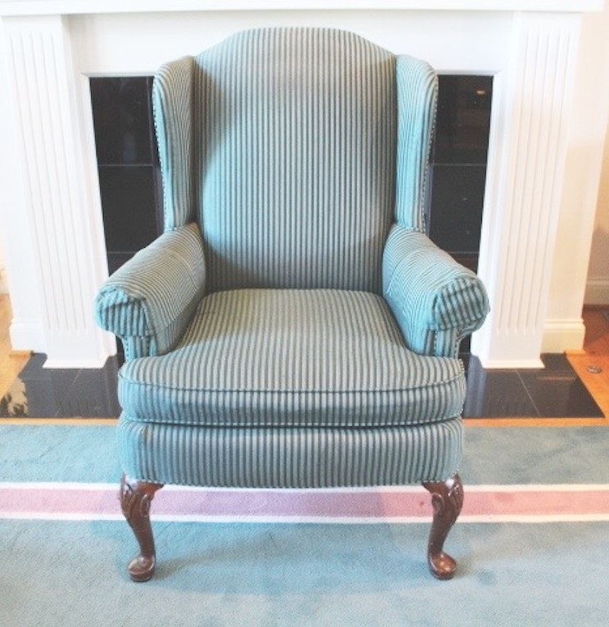 Teal wingback chair - Clayton Marcus Upholstered Wing Back Chair