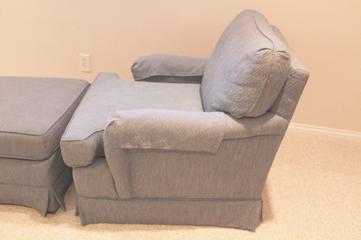 Clayton Marcus Upholstered Chair And Ottoman Ebth