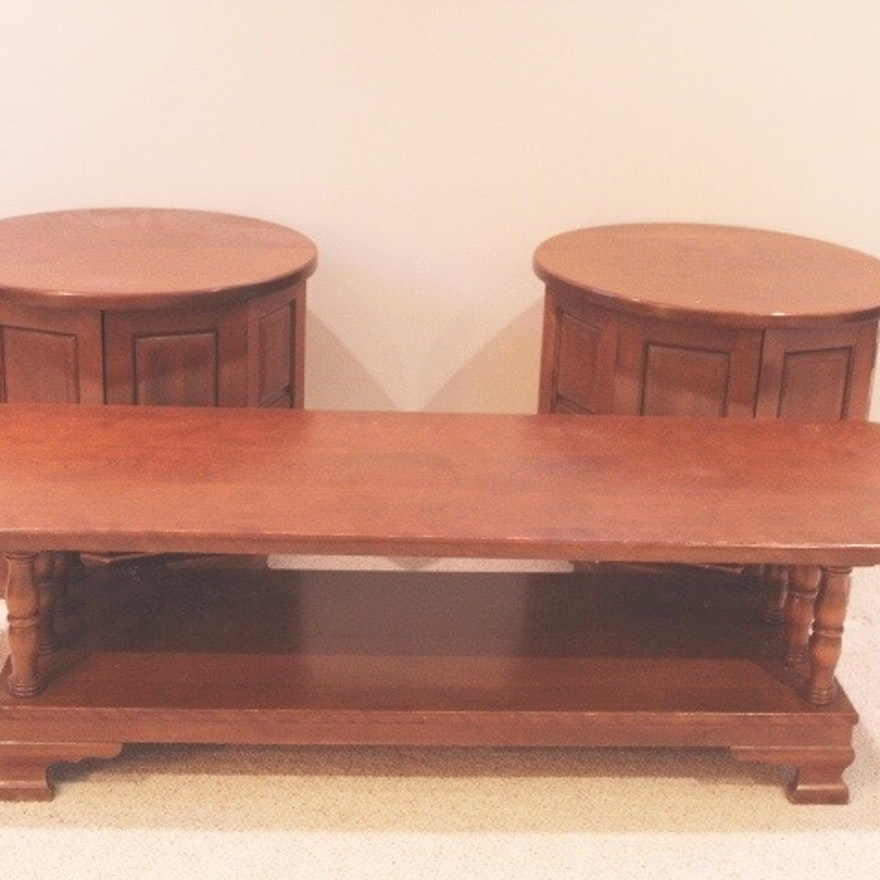 Vintage Maple Coffee Table: Vintage Maple Coffee Table And End Tables : EBTH