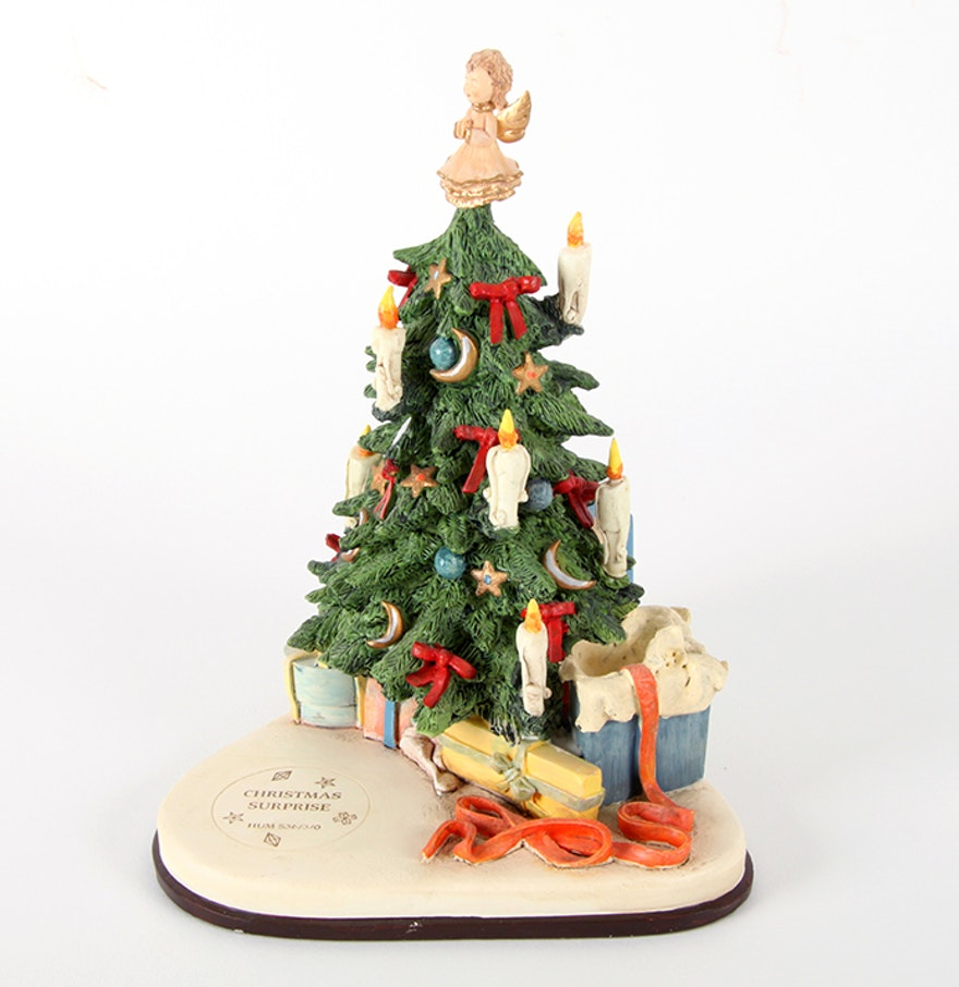 Hummel christmas tree ornaments - Hummel Musical Display Titled Christmas Surprise