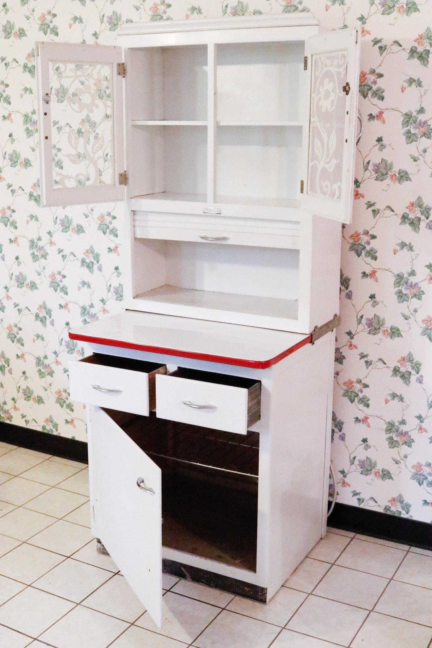 Scheirich Hoosier Style Kitchen Cabinet Ebth