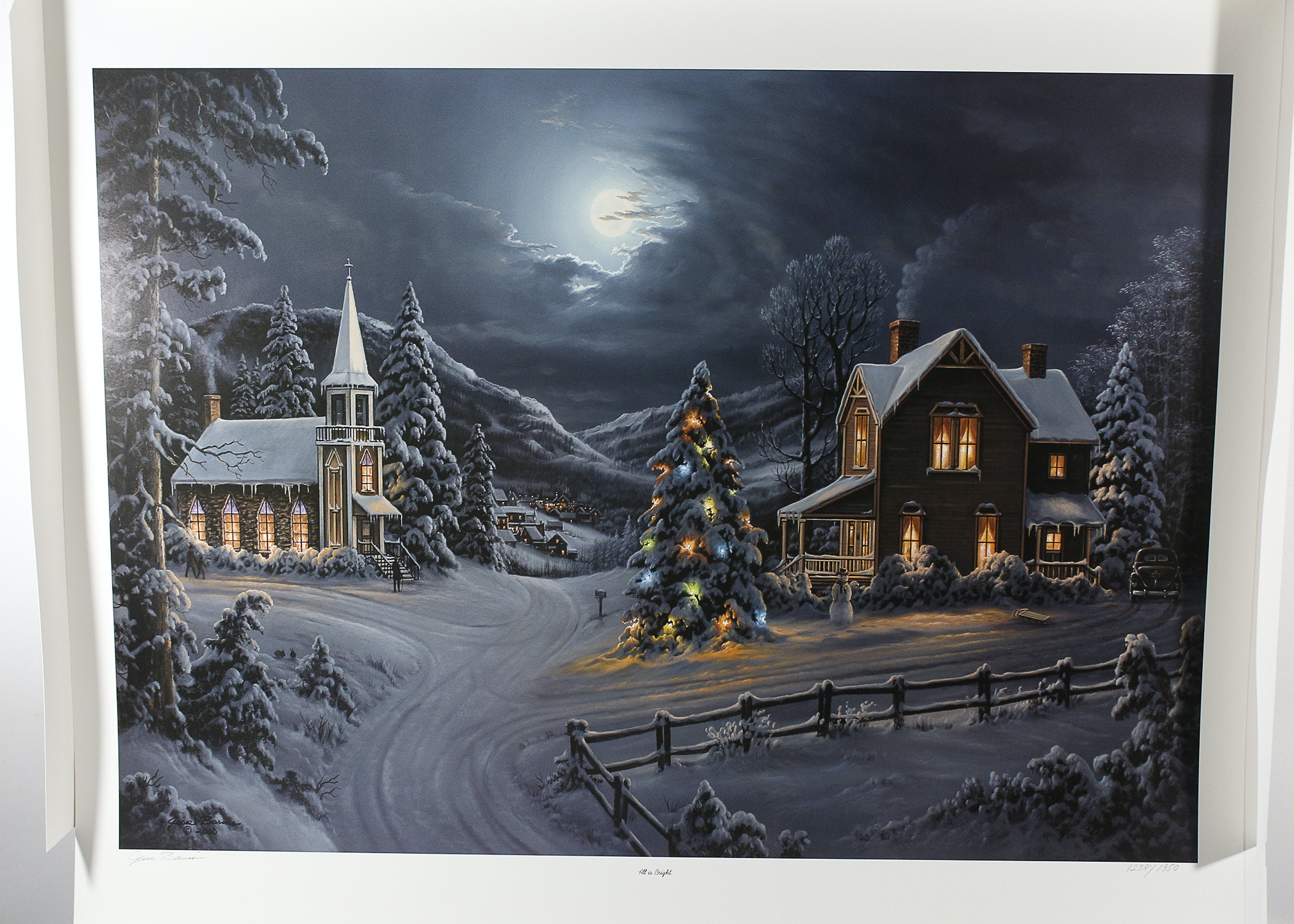 Signed Limited Edition Jesse Barnes All Is Bright Print Ebth