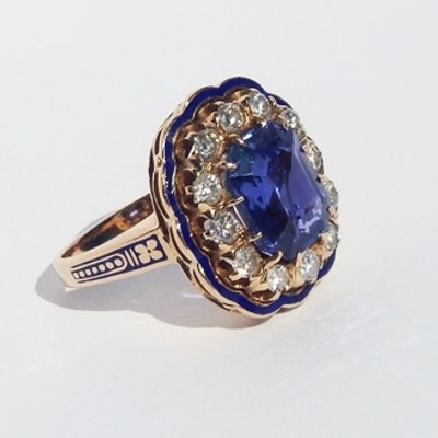 is authenticity of this and lxrandco tone en comes in medium vintage chanel enamel elegant gripoix guaranteed rings pre us the gold metal size ring by
