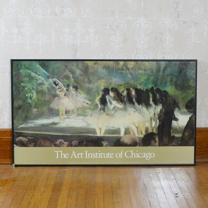 "Edgar Degas ""Ballet At The Paris Opera"" Offset Lithograph"