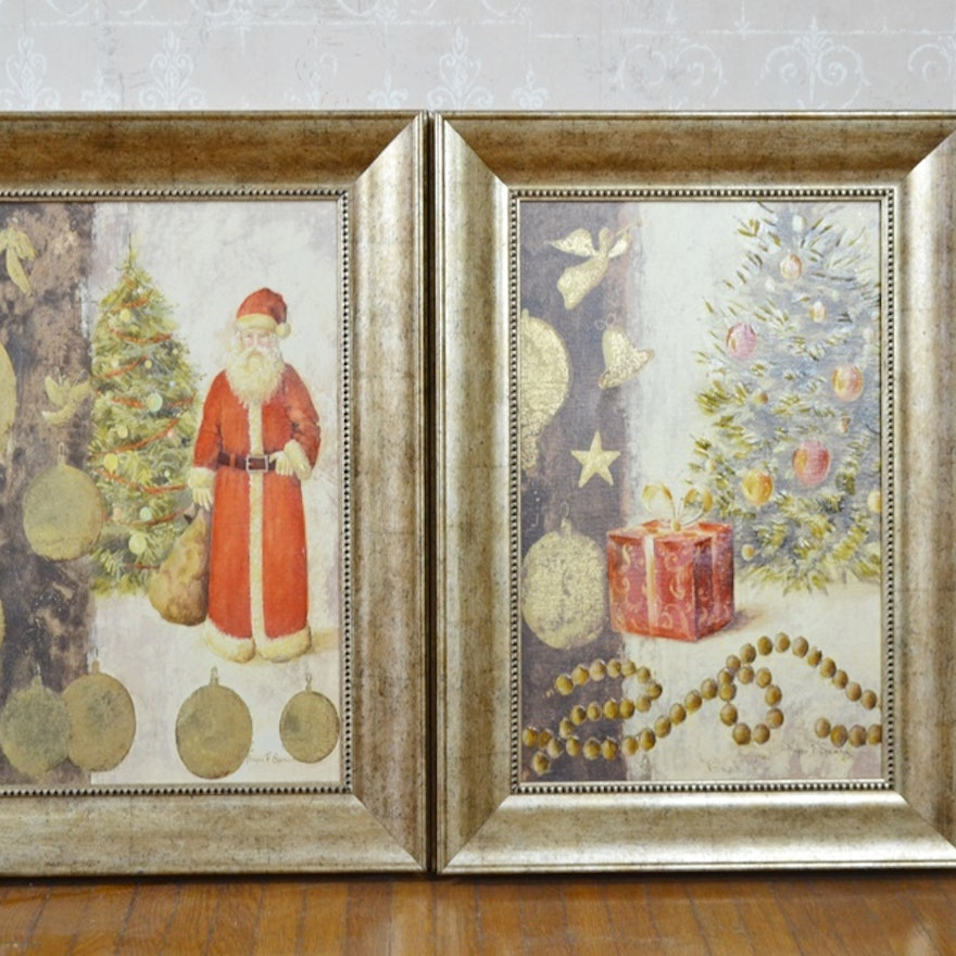 Two Christmas Themed Glicee Prints By Megan F. Spencer