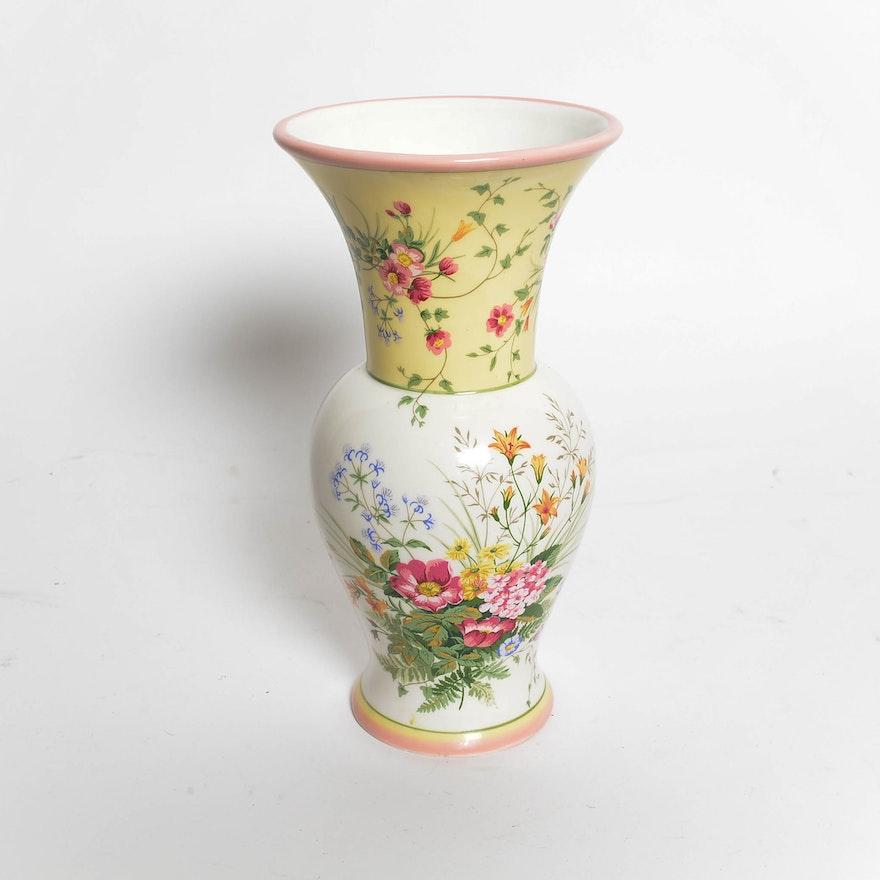 Fine Porcelain Laura Ashley Home Vase Ebth