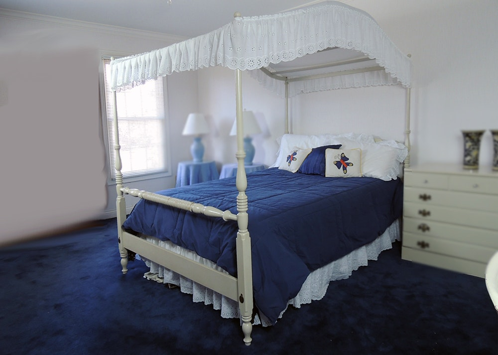ethan allen full size canopy bed