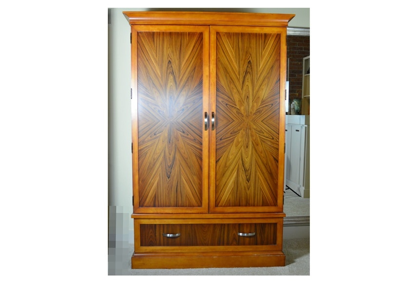 Cherry Entertainment Cabinet With Tigerwood Veneer Doors ...