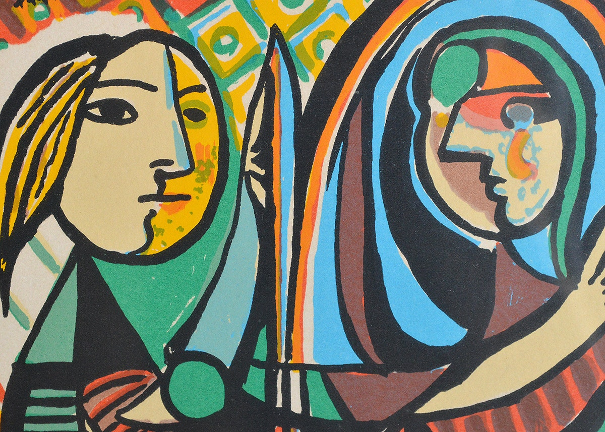 """Pablo Picasso """"Girl Before a Mirror"""" Framed Lithograph ..."""