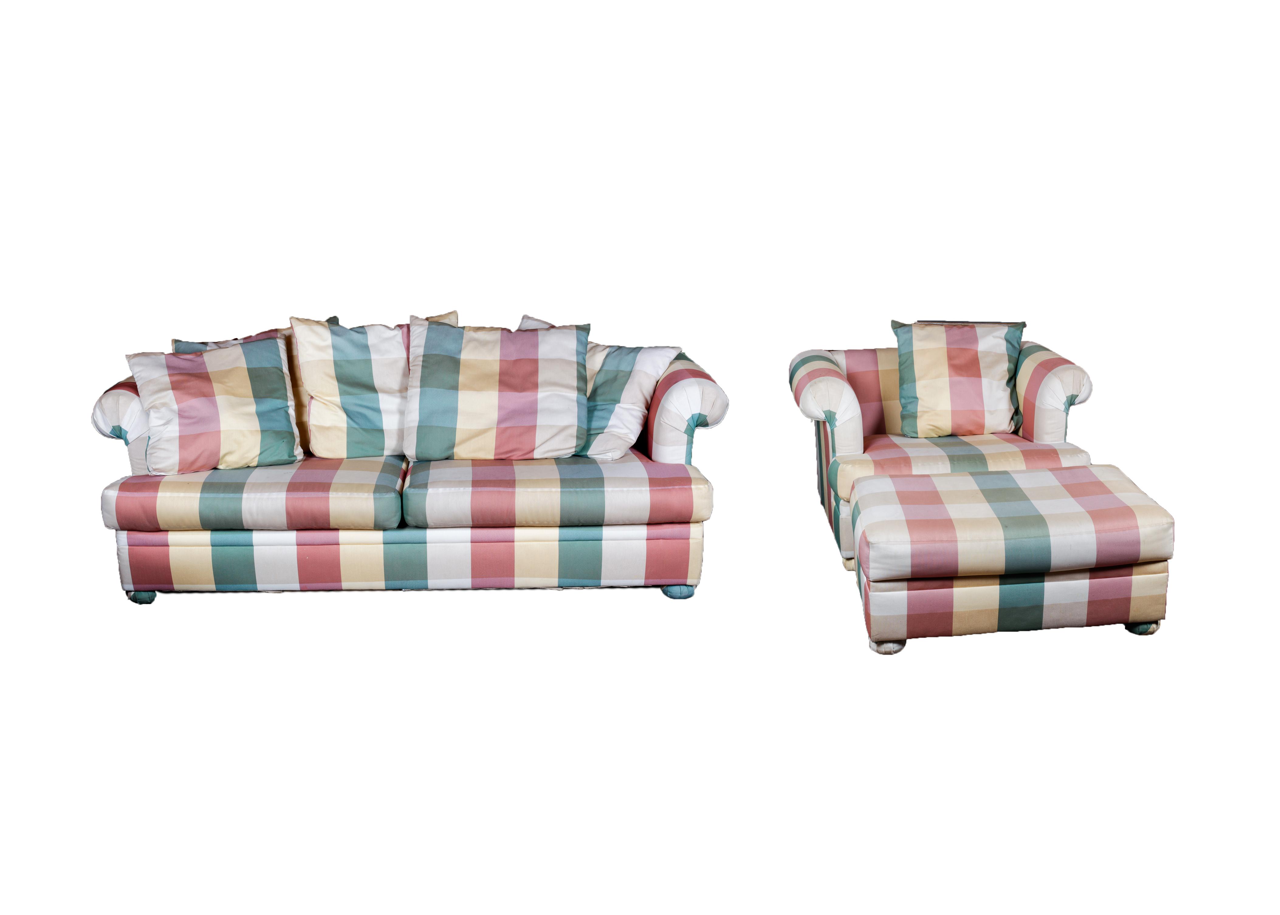 Bauhaus Sleeper Sofa and Chair With Ottoman EBTH