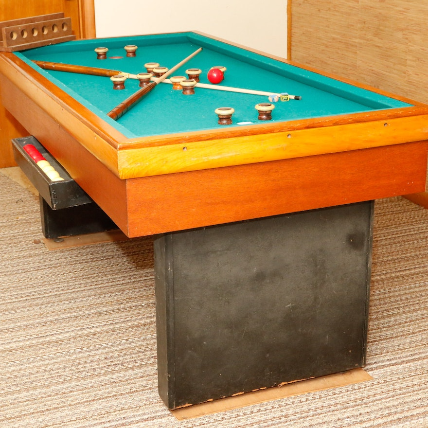 Vintage bumper pool table ebth - Bumper pool bumpers ...