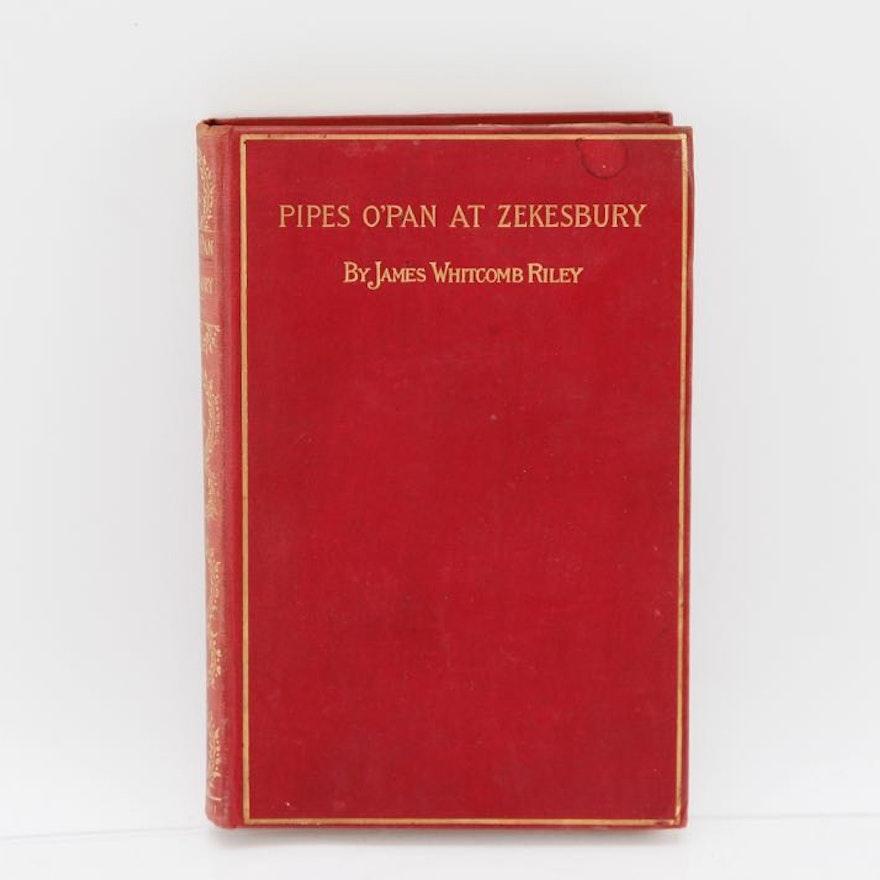 "Antique Hardcover ""Pipes O'Pan At Zekesbury"" Book"