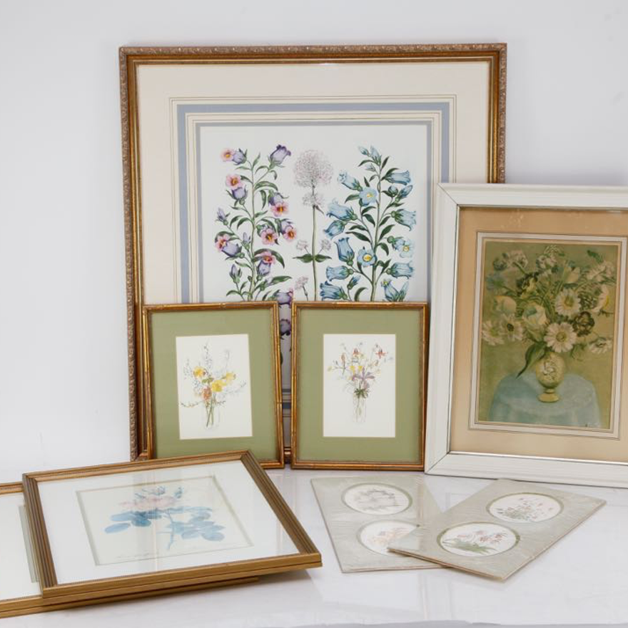 Collection of Floral Themed Art